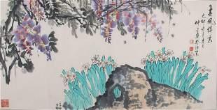LIU ZHONG WEN CHINESE PAINTING ATTRIBUTED TO