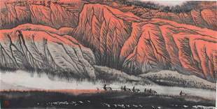 DU FU CHINESE PAINTING ATTRIBUTED TO