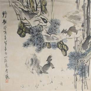 LI WEI CHINESE PAINTING ATTRIBUTED TO