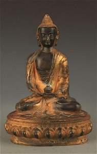 A BRONZE PHARMACIST BUDDHA STATUE FIGURE