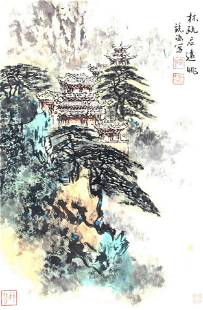 HE JING HAN, CHINESE PAINTING ATTRIBUTED TO