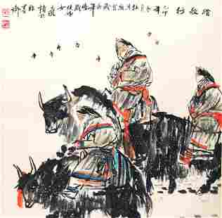 DU ZI LING, CHINESE PAINTING ATTRIBUTED TO