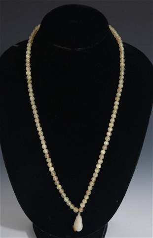 A FINE HORN MADE NECKLACE