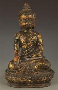 TIBETAN BUDDHISM BRONZE AKSHOBHYA BUDDHA