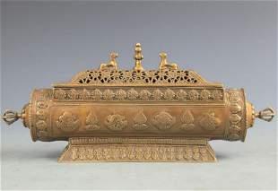 FINE BRONZE TIBETAN BUDDHA AROMATHERAPY