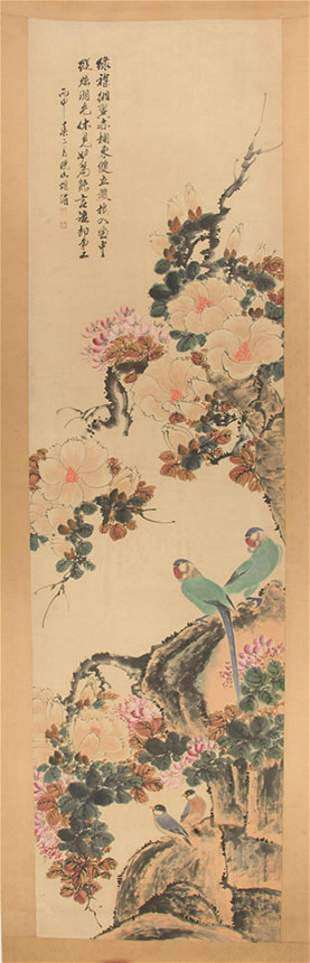 A CHINESE PAINTING ATTRIBUTED TO HU MEI