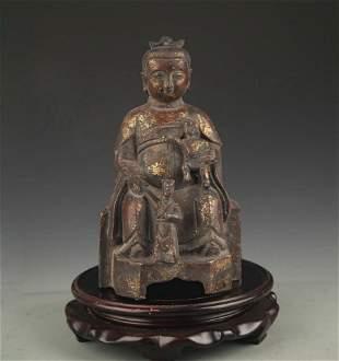 A FINE BRONZE BUDDHA FIGURE