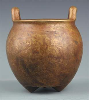 FINELY BAMBOO ROOT CARVED TRIPOD CENSER