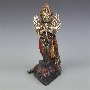 A FINE TIBETAN BUDDHISM VAJRA WITH BASE