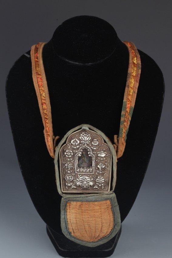 """A TIBETAN RELIGIOUS AMULET, """"GAWU"""""""
