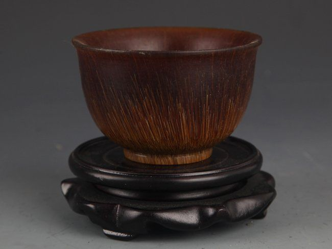 A CARVED HORN CUP