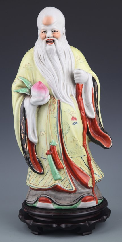 A VERY LIFE LIKE COLORFUL LONGEVITY GOD DECORATION