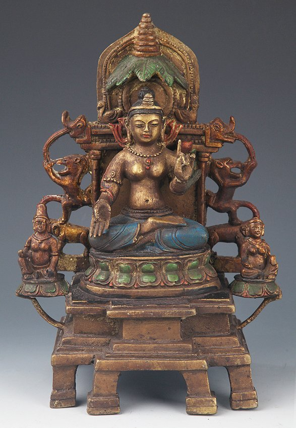 A FINELY DETAIL CARVED TIBETAN BUDDHA