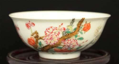 A Superb Famille-Rose Peach Blossom Bowl