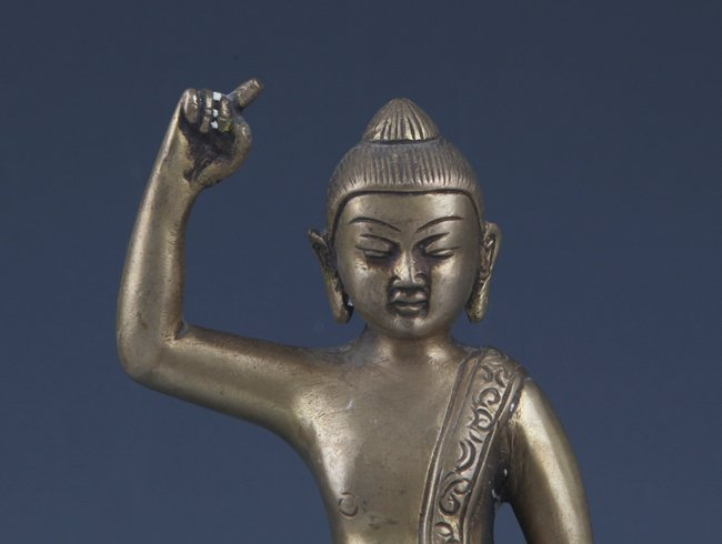 A DETAIL AND FINELY AKSHOBHYA BUDDHA CARVING MODEL - 2