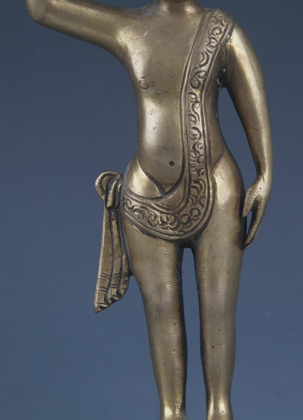 A DETAIL AND FINELY AKSHOBHYA BUDDHA CARVING MODEL - 3