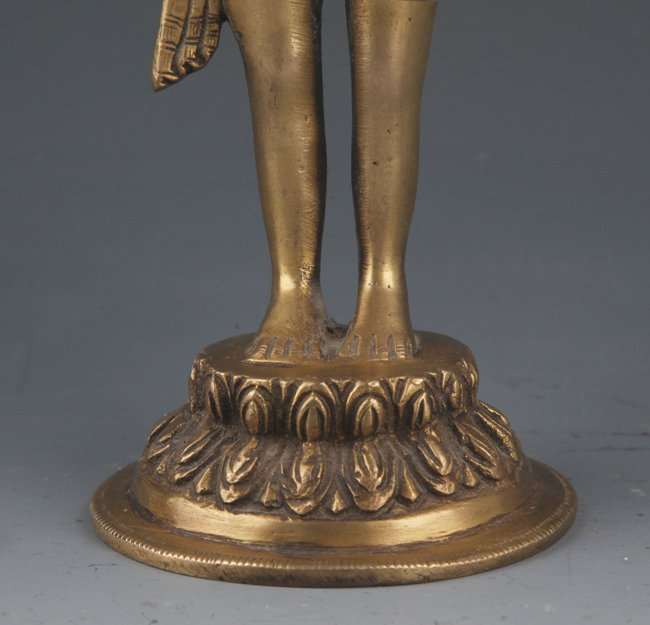 A DETAIL AND FINELY AKSHOBHYA BUDDHA CARVING MODEL - 4