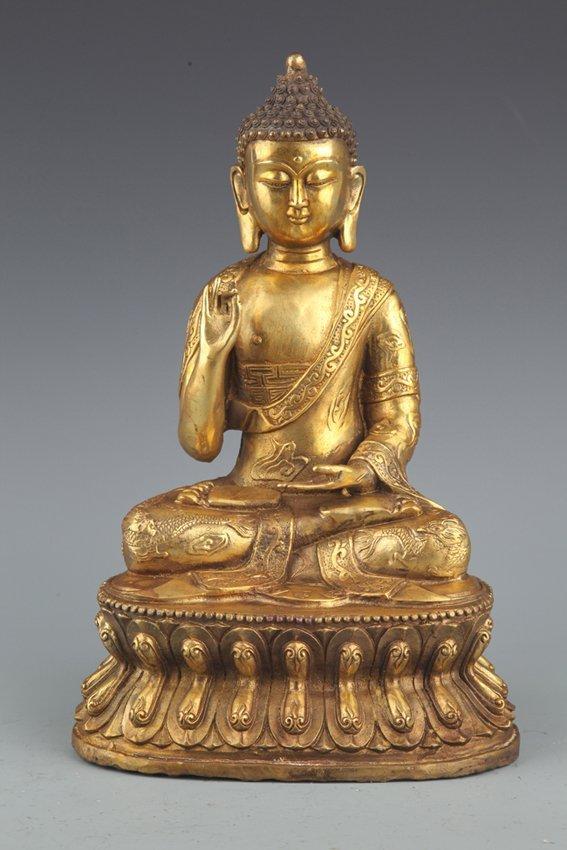 A FINELY GILT-BRONZE BUDDHA