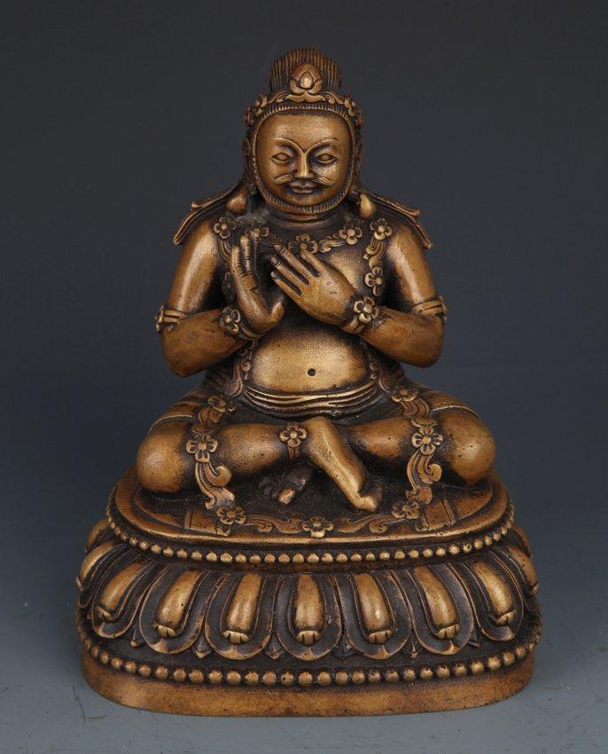 A LIFE LIKE BRONZE BUDDHA MODEL