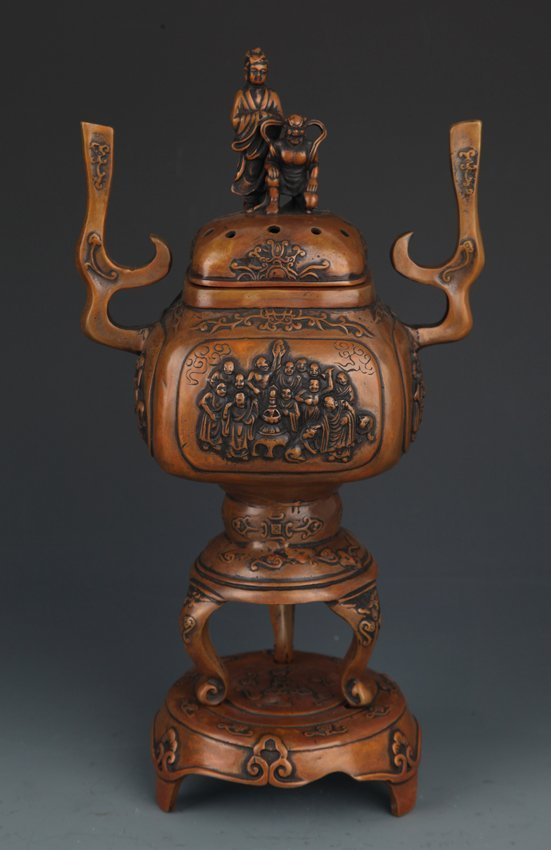 A RARE AND FINE BUDDHA AROMATHERAPY WITH BASE