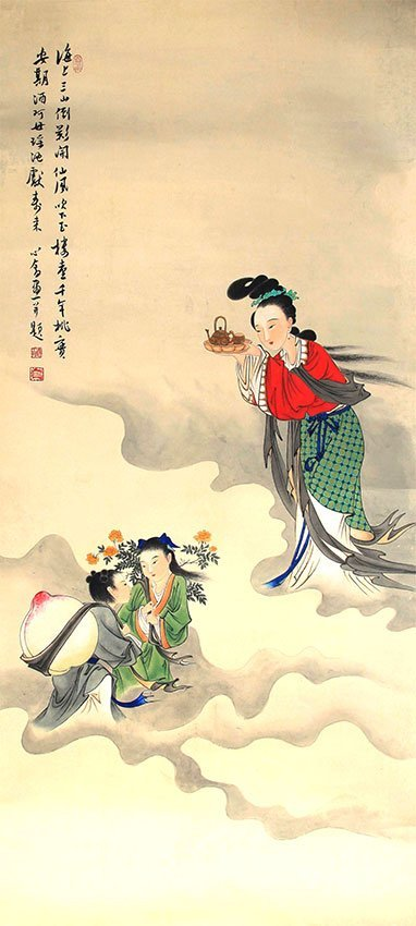 A BO XIN SHE PAINTING, ATTRIBUTED TO