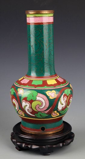 A Fine CloisonnÉ Color Porcelain Bottle