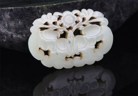 A Fine Bat Figure Pale Celadon Jade