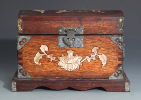 A Finely Design Redwood Jewelry Box