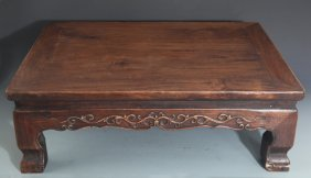 A Finely Carved Redwood Bed-table