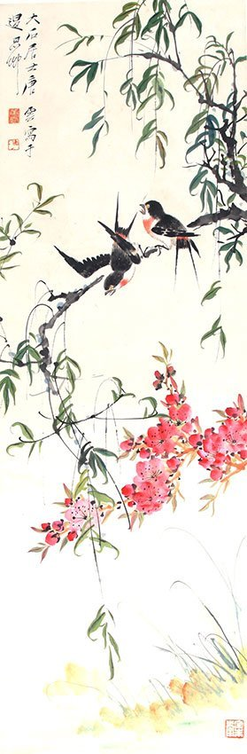 A FINE TANG YUN CHINESE PAINTING (ATTRIBUTED TO,)