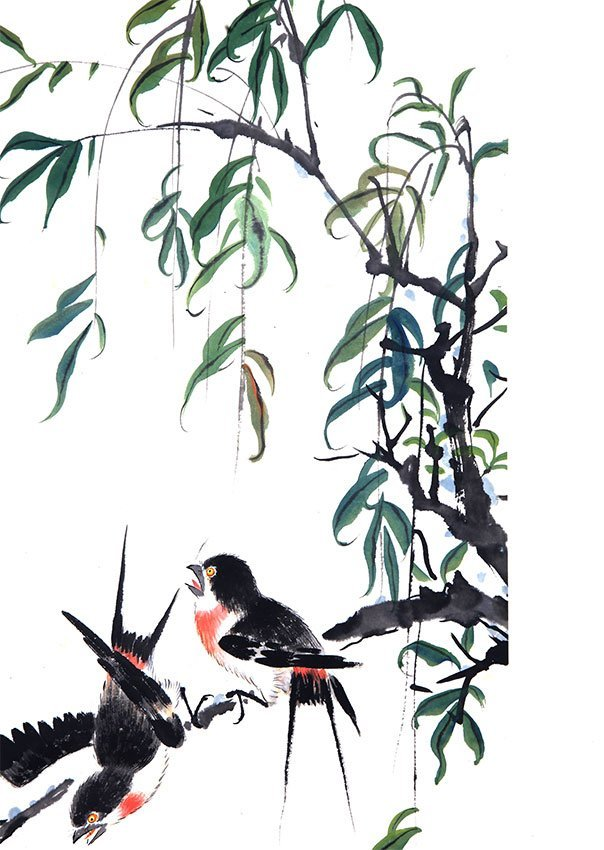 A FINE TANG YUN CHINESE PAINTING (ATTRIBUTED TO,) - 5