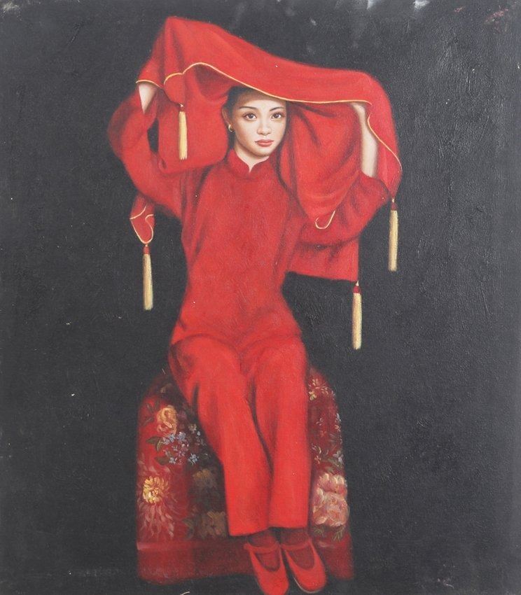 A FINE WANG ZHE DONG OIL PAINTING