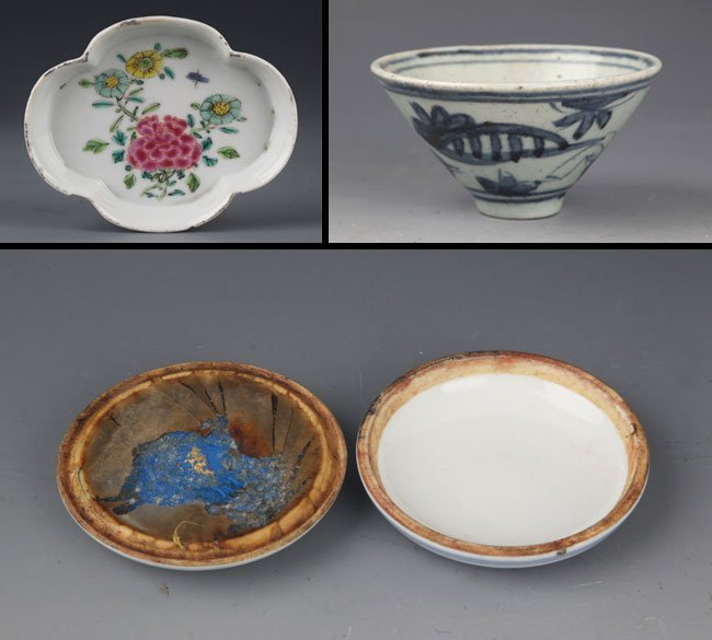 GROUP OF THREE PORCELAIN PLATE