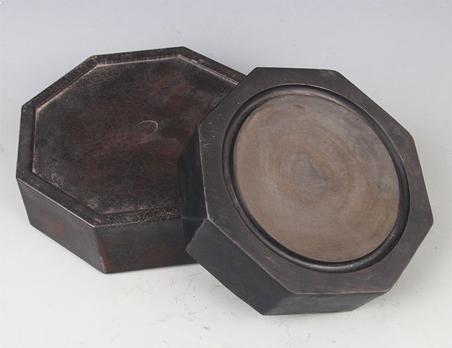 A FINELY MADE INK STONE - 5