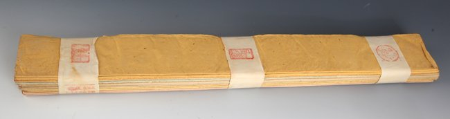 A GROUP OF TEN XUAN PAPER, RICE PAPER