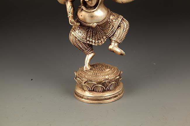 A FINE TIBETIAN THE TRUNK GOD OF WEALTH BUDDHA - 3