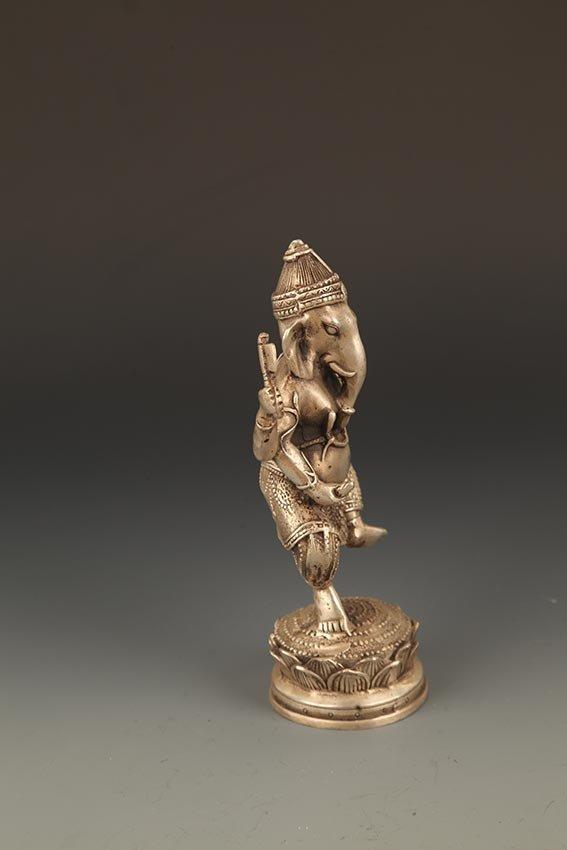 A FINE TIBETIAN THE TRUNK GOD OF WEALTH BUDDHA - 4