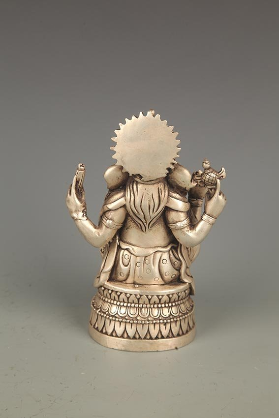 A FINE TIBETIAN THE TRUNK GOD OF WEALTH BUDDHA - 5