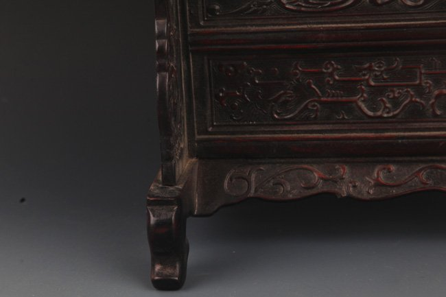 A FINE MARBLE CARVED XIAO YE ZI TAN TABLE SCREEN - 4