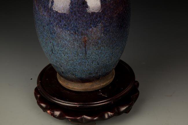 A FINE DARK BLUE COLOR PORCELAIN JAR - 3