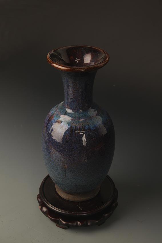 A FINE DARK BLUE COLOR PORCELAIN JAR - 4