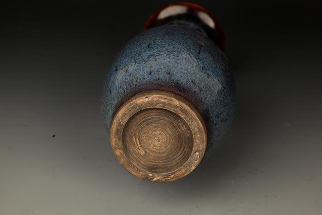 A FINE DARK BLUE COLOR PORCELAIN JAR - 5