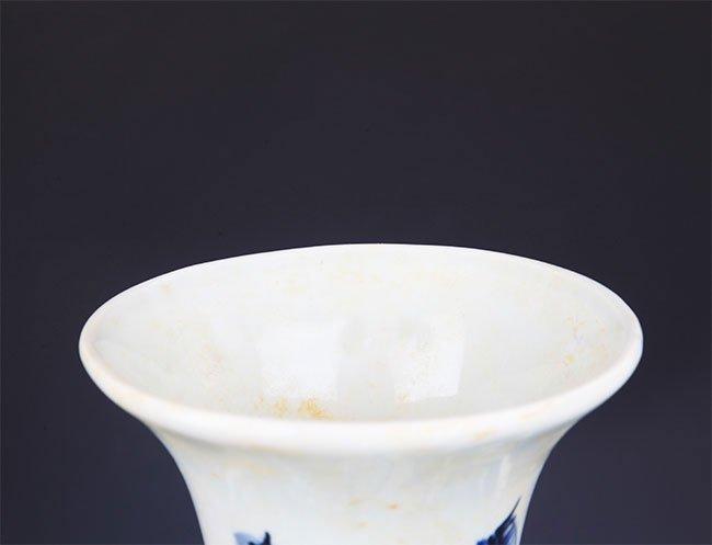 A FINE PHOENIX PAINTED PORCELAIN FLOWER JAR - 2