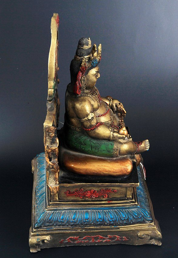 A FINELY CARVED BRONZE SETTING BUDDHA - 5