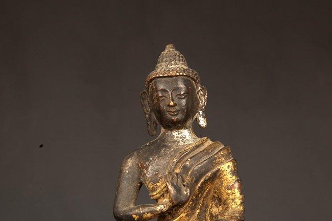 A GILT BRONZE BUDDHA - 2