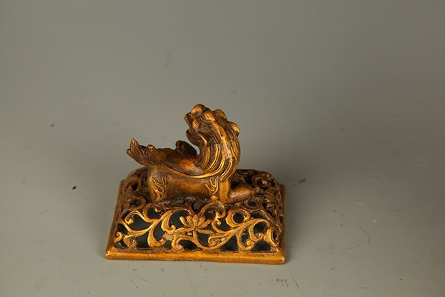 PAIR OF FINELY CARVED BRONZE AROMATHERAPY - 3