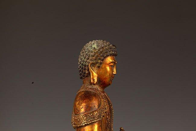 A FINELY CARVED TATHAGATA BUDDHA FIGURE - 6