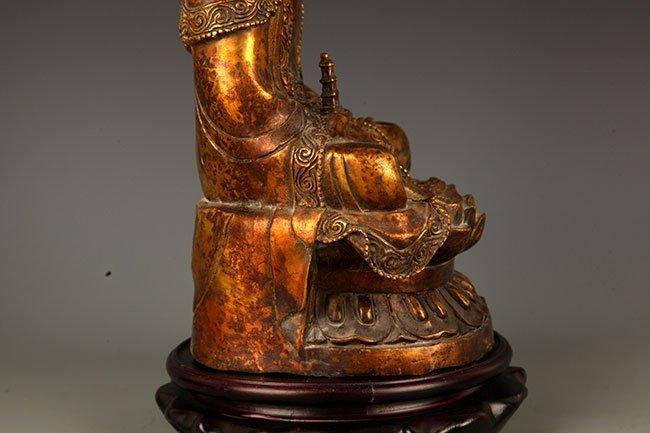 A FINELY CARVED TATHAGATA BUDDHA FIGURE - 7