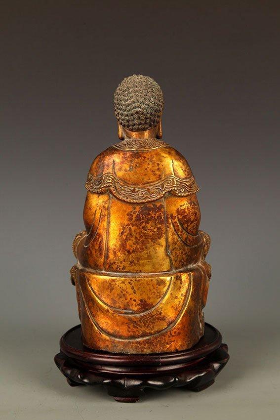 A FINELY CARVED TATHAGATA BUDDHA FIGURE - 8