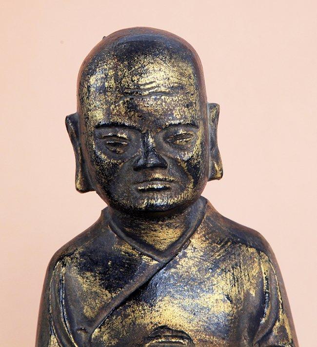 TALL GILT BRONZE BUDDHA FIGURE - 5